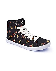 Joe Browns Floral Hi Top Trainers E Fit
