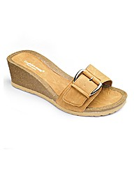Cushion Walk Buckle Wedge Footbed EEE