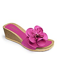 Flower Wedge Footbed EEE Fit