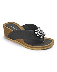 Jewelled Wedge Footbed E Fit