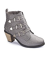 Studded Strappy Ankle Boots EEE Fit