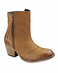 Simply Be Zip Ankle Boots EEE Fit