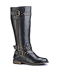 Legroom Studded High Leg Boots EEE Fit
