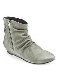 Simply Be Wedge Ankle Boot EEE Fit