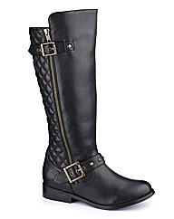 Legroom Quilted Hi Leg Boot Curvy Plus E
