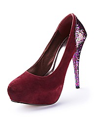 Glitter Heel Court Shoes