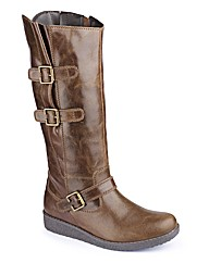 Sole Diva Double buckle Hi Leg Boot EEE