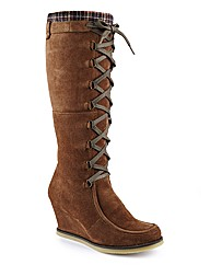 Joe Browns Hi Leg Wedge Boot E Fit