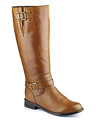 Legroom Double Buckle Boot Curvy E Fit