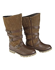 Joe Browns Strappy Wedge Boot E Fit