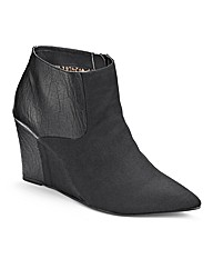 Simply Be Pointy Wedge Boots EEE Fit