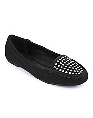 Simply Be Diamante Loafer EEE Fit