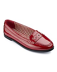 Simply Be Studded Loafers E Fit