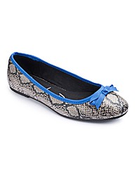 Simply Be Snake Print Pumps EEE Fit
