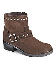 Simply Be Studded Ankle Boot E Fit