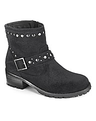 Simply Be Studded Ankle Boot EEE Fit