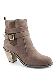Simply Be Strappy Cowboy Boot EEE Fit