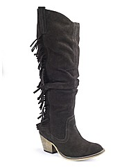 Legroom Fringe Boot Super Curvy EEE Fit