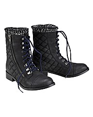 Joe Browns Quilted Lace Up Boot EEE Fit