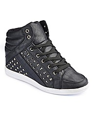 Simply Be Wedge Stud Trainer EEE Fit