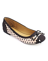 Dolcis Polka Dot Ballerinas D Fit