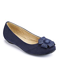 Natures Own Diamante Flower Pumps E Fit