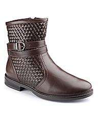 Natures Own Woven Ankle Boots E Fit
