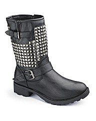 Studded Buckle Boots E Fit
