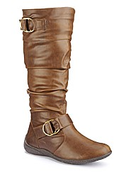 Legroom Buckle Boots Curvy Plus E Fit