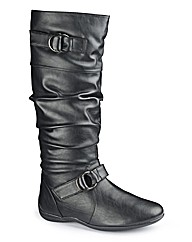 Legroom Buckle Boot Curvy Plus EEE Fit