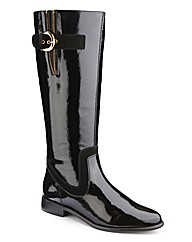 Legroom Patent Riding Boot Curvy Plus E