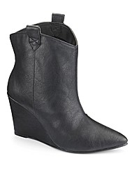 Simply Be Cowboy Wedge Boots E Fit