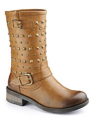 Dolcis Studded Mid Calf Boot E Fit
