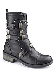 Dolcis Strappy Studded Boot E Fit