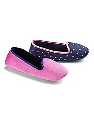 Simply Be Printed Slipper Pump Pack Two