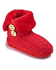 Simply Be Fluffy Bootee Slipper