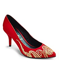 Simply Be Embroidered Shoe E Fit