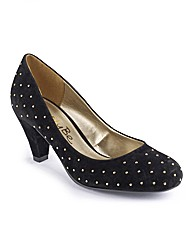 Simply Be Studded Court Shoe EEE Fit