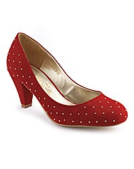 Simply Be Studded Court Shoe E Fit