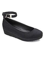 Sole Diva Buckle Trim Flatform EEE Fit