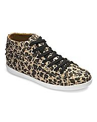 Anna Scholz Leopard Hi-Top EEE Fit