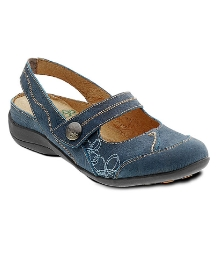 Padders Denim Blue Mary Jane Ankle Strap
