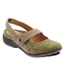 Padders Beige Mary Jane Ankle Strap