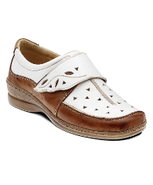 Padders White and Tan Ischia Shoe