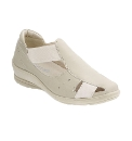 Padders Vivian Bone Summer Casual Shoe