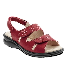 Padders Red Rosemary 2 Strap Sandal