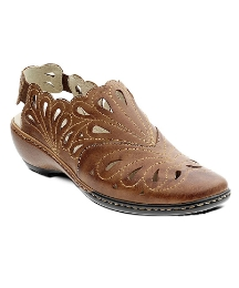 Padders Tan Sancha Closed Toe Shoe