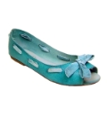 Cafe Noir Blue Aqua Ballerinas
