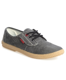 Monkfish Black Canvas Mist Lace Up
