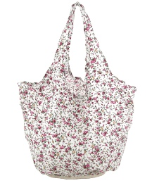 Rocket Dog Lily White Floral Eco Shopper